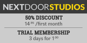50% discount at Next Door Studios